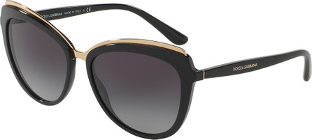Dolce & Gabbana Metal-Trim Gradient Cat-Eye Sunglasses