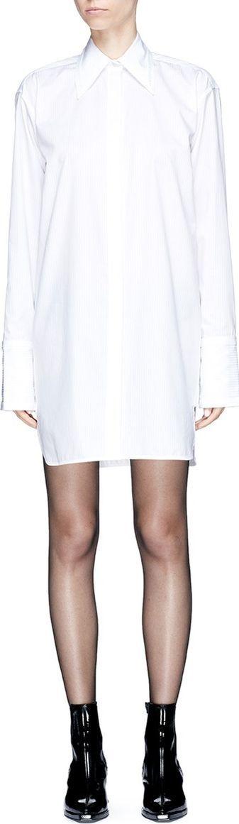 Helmut Lang Stripe oversized shirt dress