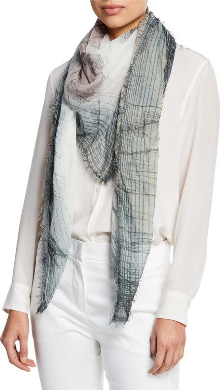 Faliero Sarti Krizia Abstract Fringe Scarf