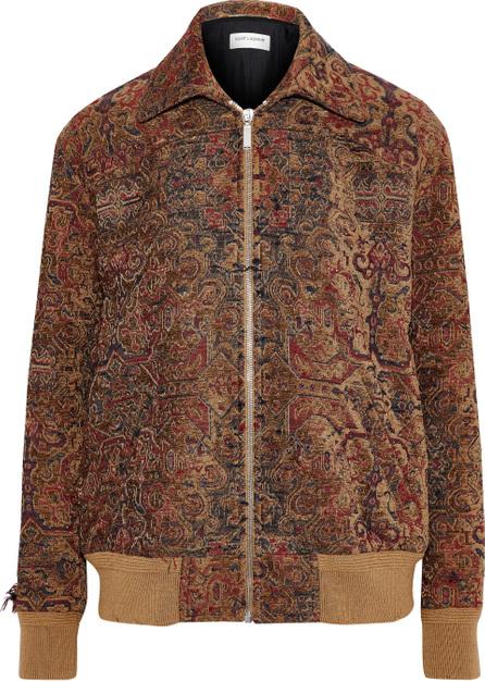 Saint Laurent Jacquard bomber jacket