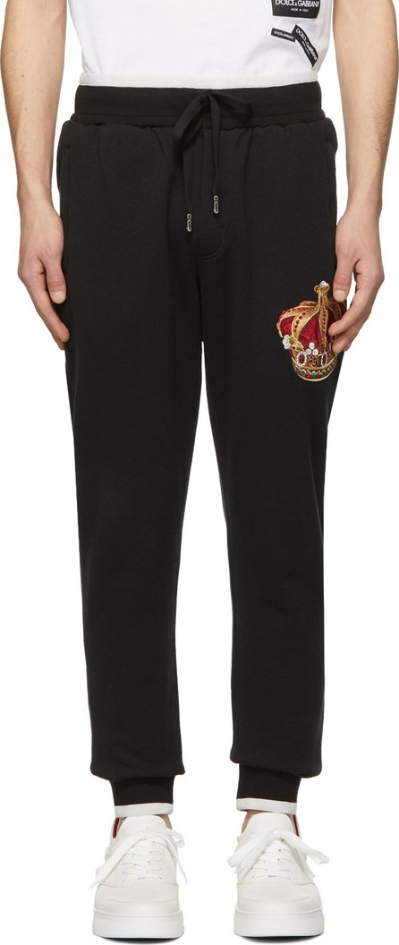 Dolce & Gabbana Black Crown Lounge Pants