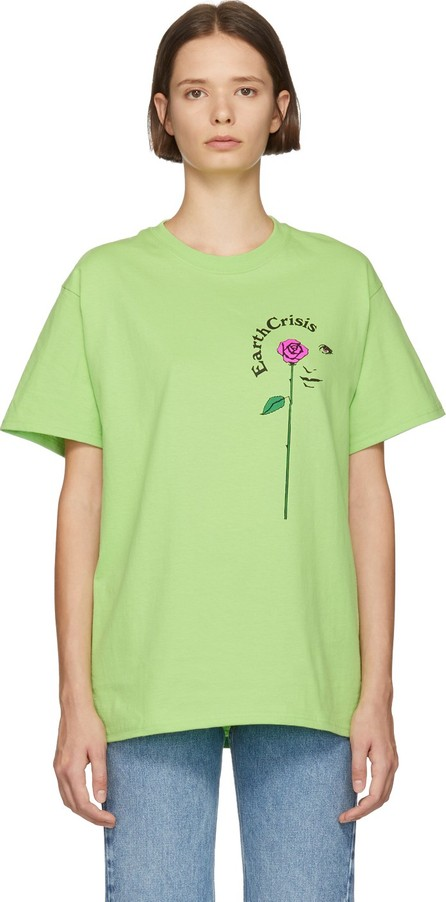 Noah NYC Green 'Earth Crisis' T-Shirt