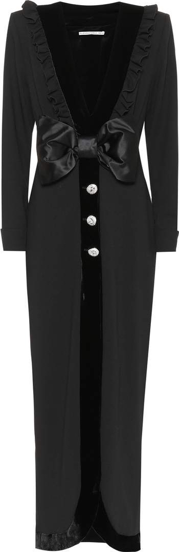 Alessandra Rich Wool crêpe maxi dress