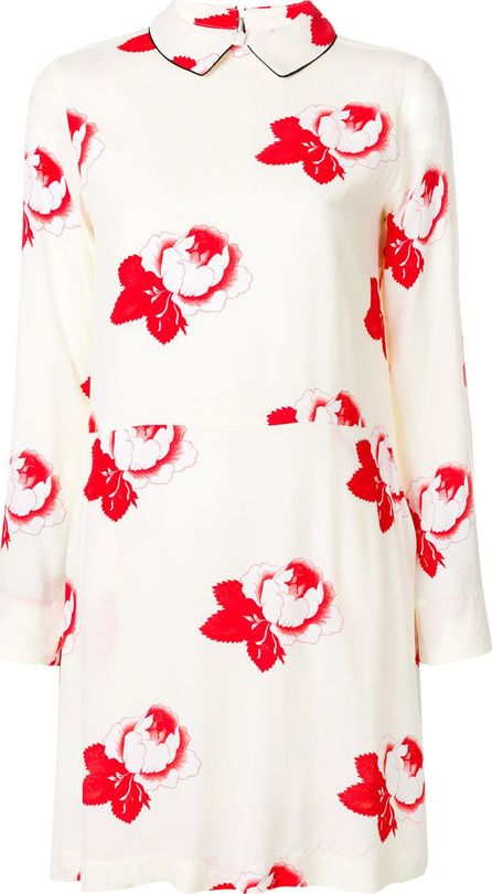 Ganni rose print dress