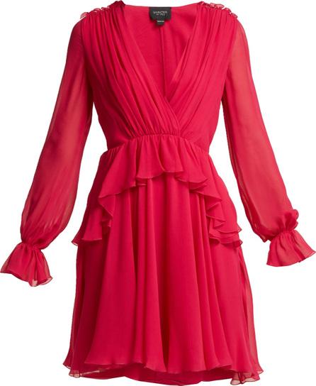 Giambattista Valli Ruffled silk-chiffon mini dress