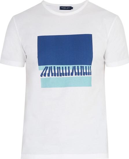 Frescobol Carioca Wave printed cotton jersey T-shirt