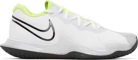 Nike White & Black NikeCourt Air Zoom Vapor Cage 4 Sneakers