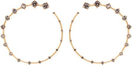 Fernando Jorge Diamond & yellow-gold Circle earrings