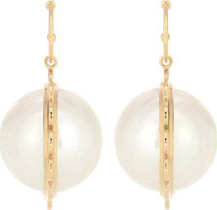 Simone Rocha 24kt gold-plated faux pearl earrings