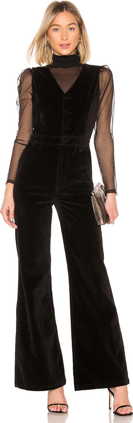 FRAME DENIM Velveteen Button Front Jumpsuit
