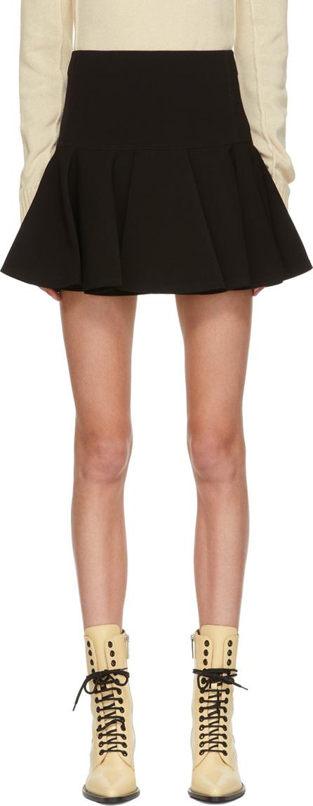 Chloe Black Ruffed Miniskirt