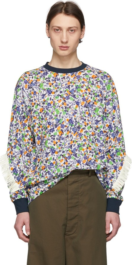 FACETASM White & Multicolor Fringes T-Shirt