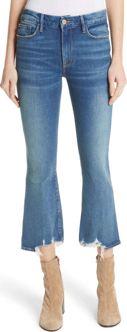 FRAME DENIM Le Crop Mini Boot Raw Hem Jeans