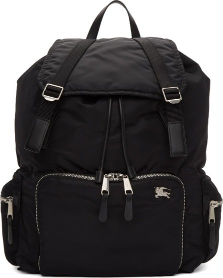 Burberry London England Black Extra Large Aviator Backpack