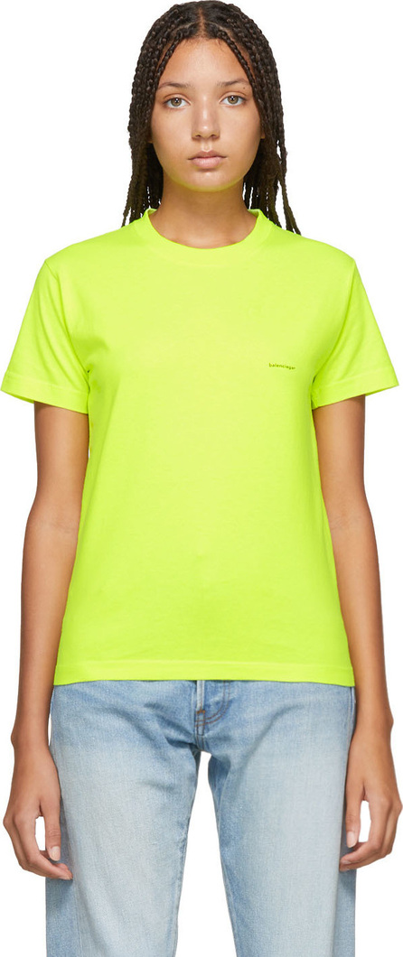 Balenciaga Yellow Mini Logo T-Shirt