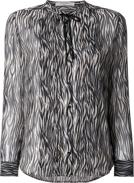 All Saints Cada Zebra shirt