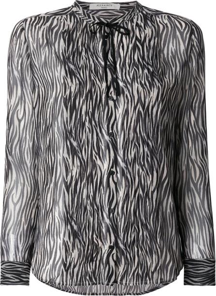 All Saints Cada Zebra shirt