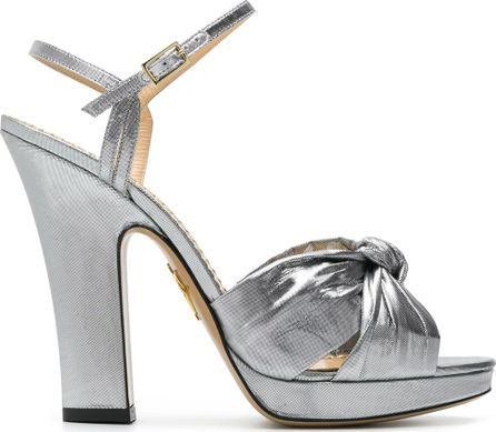 Charlotte Olympia Silver Farrahc sandals