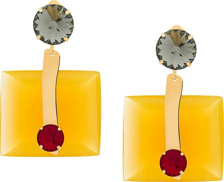 Marni Crystal square earring