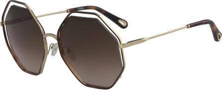 Chloe Poppy Geometric Sunglasses