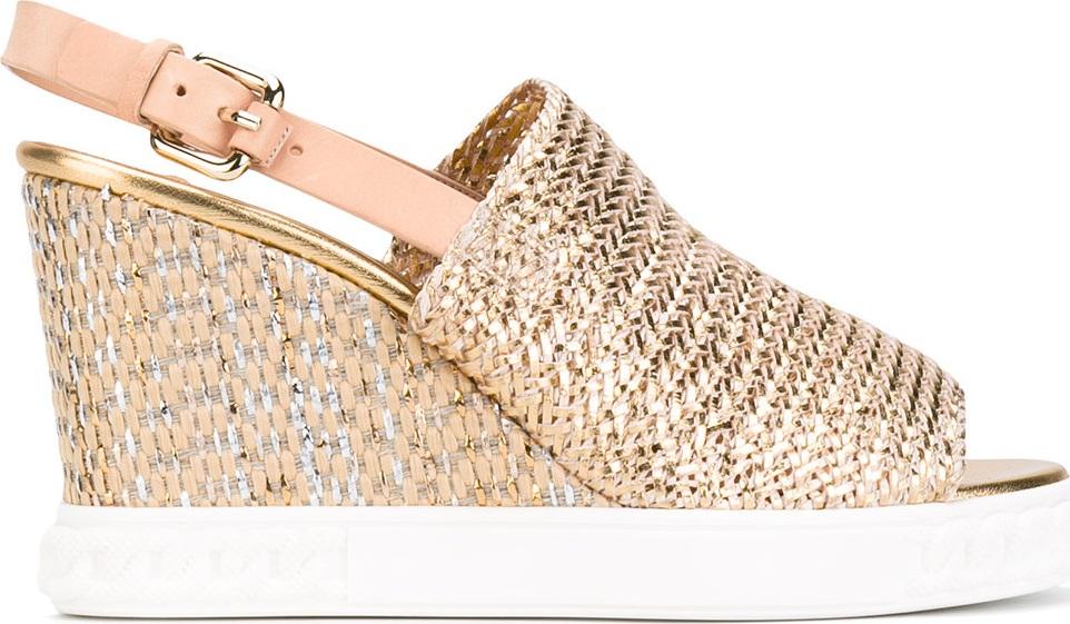 Casadei - espadrille wedge sandals