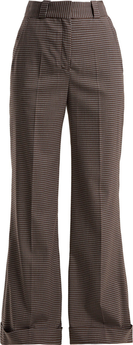 See By Chloé Mini check wide-leg trousers