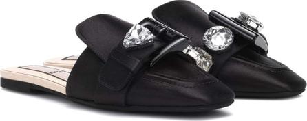 N°21 Embellished satin slippers