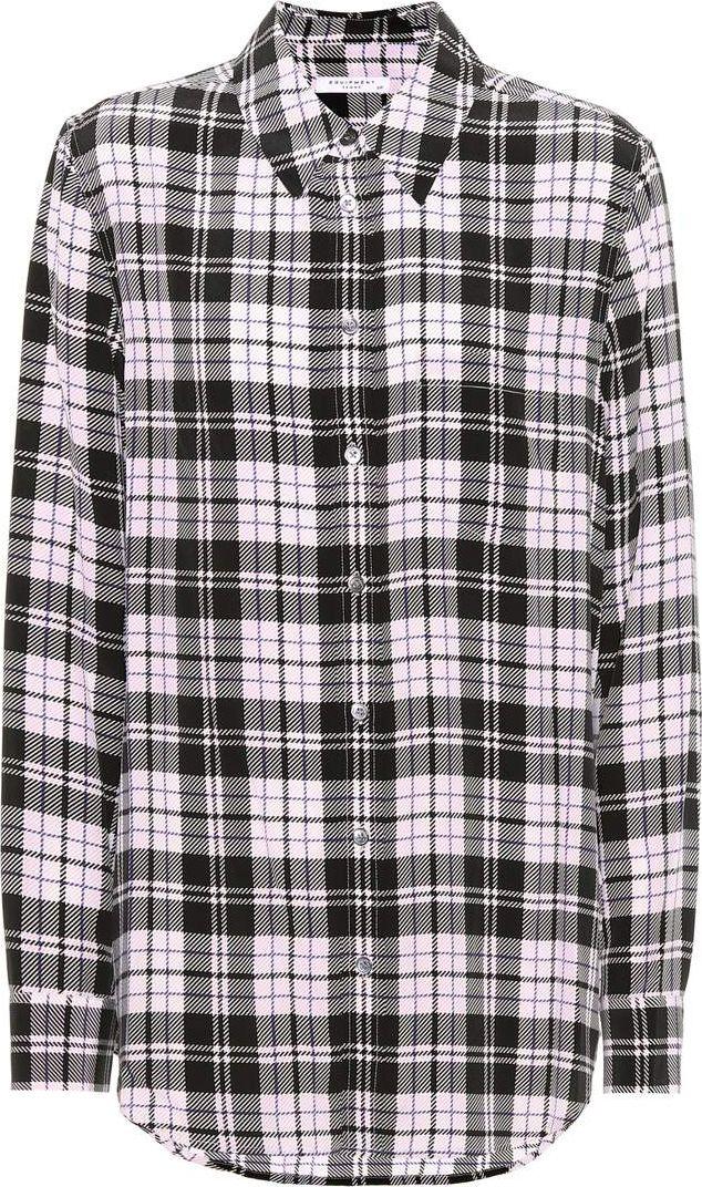 6200df714d4bf2 Equipment Reese plaid silk shirt - Mkt
