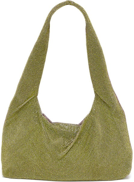 KARA Crystal chain mail shoulder bag
