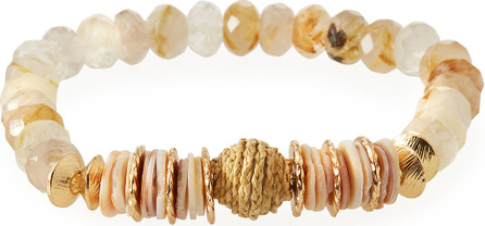 Akola Rutilated Quartz & Raffia Mini Bracelet