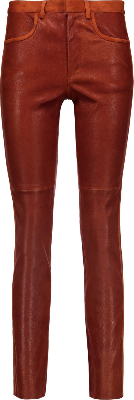 Isabel Marant Joren suede-trimmed leather skinny pants