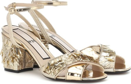N°21 Sequined leather sandals