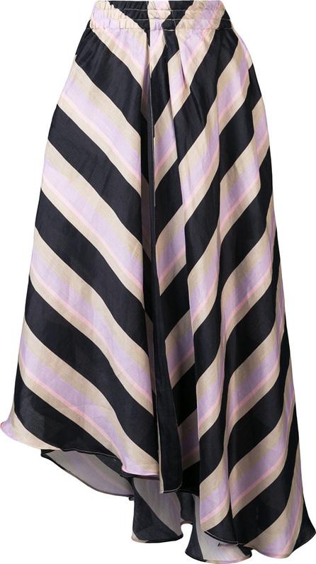 APIECE APART Asymmetric striped skirt