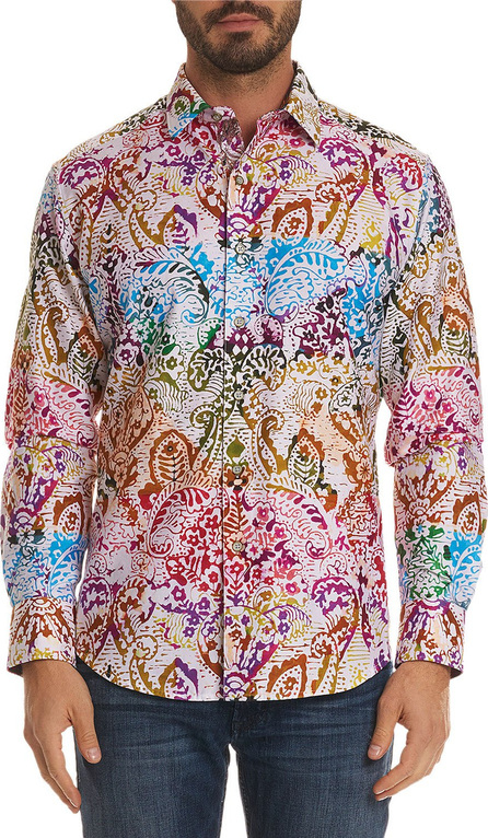 Robert Graham Men's Zelandia Classic Fit Multicolor Paisley Sport Shirt