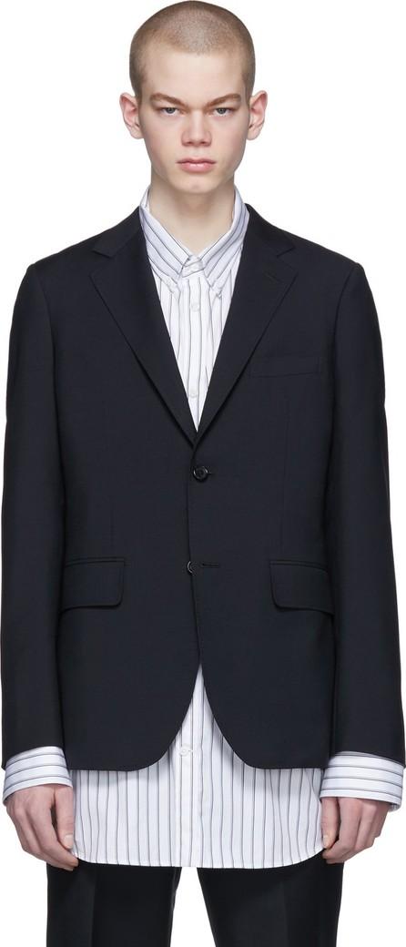 Comme des Garçons Homme Deux Black Tropical Wool Blazer