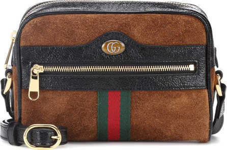 Gucci Ophidia Mini suede shoulder bag