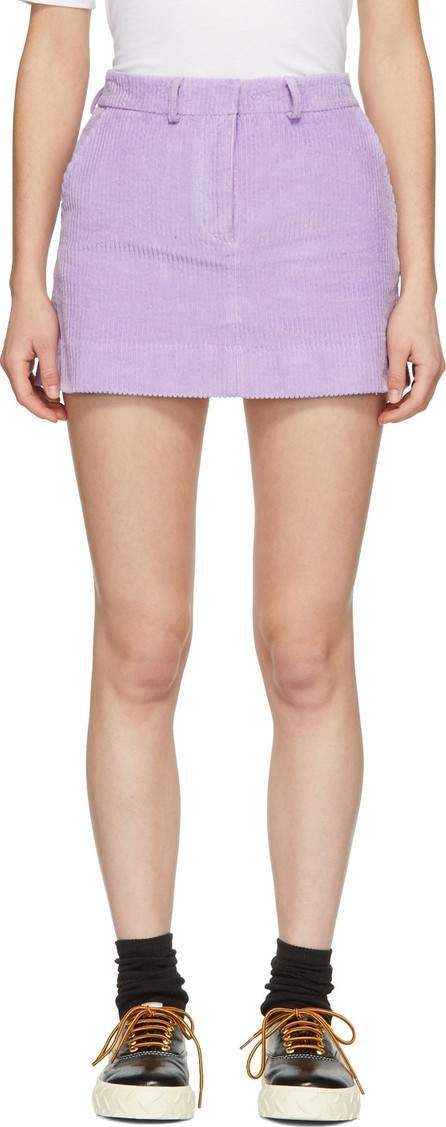 Ashley Williams Purple Executive Miniskirt