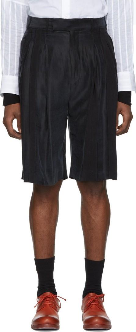 Ann Demeulemeester Black Striped Shorts