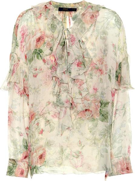 Polo Ralph Lauren Floral-printed silk blouse