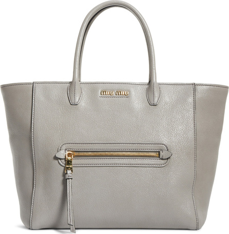 Miu Miu Madras Leather Satchel