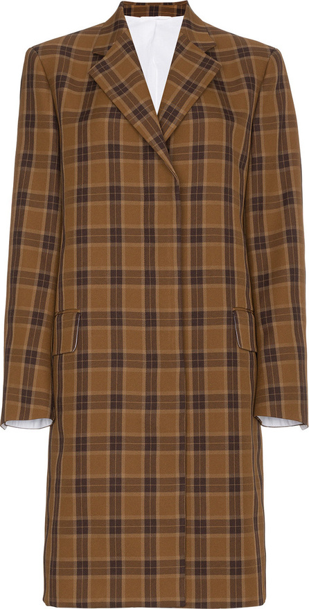 Calvin Klein 205W39NYC Single-breasted plaid coat