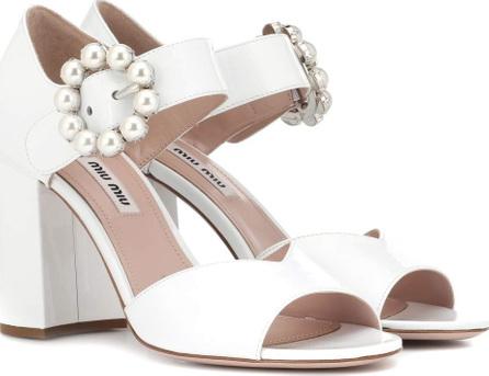 Miu Miu Embellished patent leather sandals