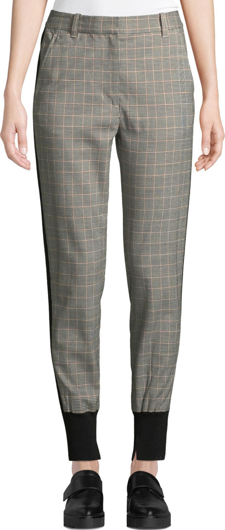 3.1 Phillip Lim Checked Wool/Cotton Jogger Pants