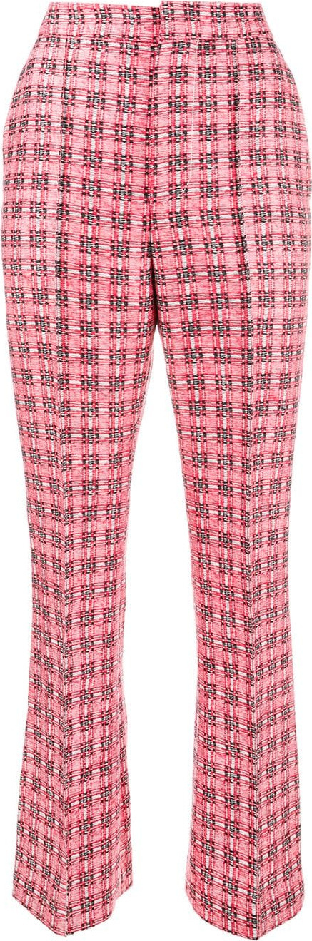Marni Checked brocade trousers