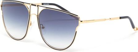 Matthew Williamson 'D' metal frame gradient lenses sunglasses
