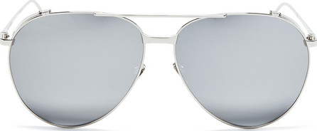 Linda Farrow Metal mirror aviator sunglasses