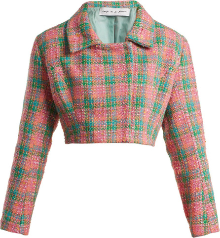 Emilio De La Morena Angeles cropped tweed jacket