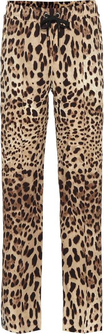 Dolce & Gabbana Leopard-printed silk pants