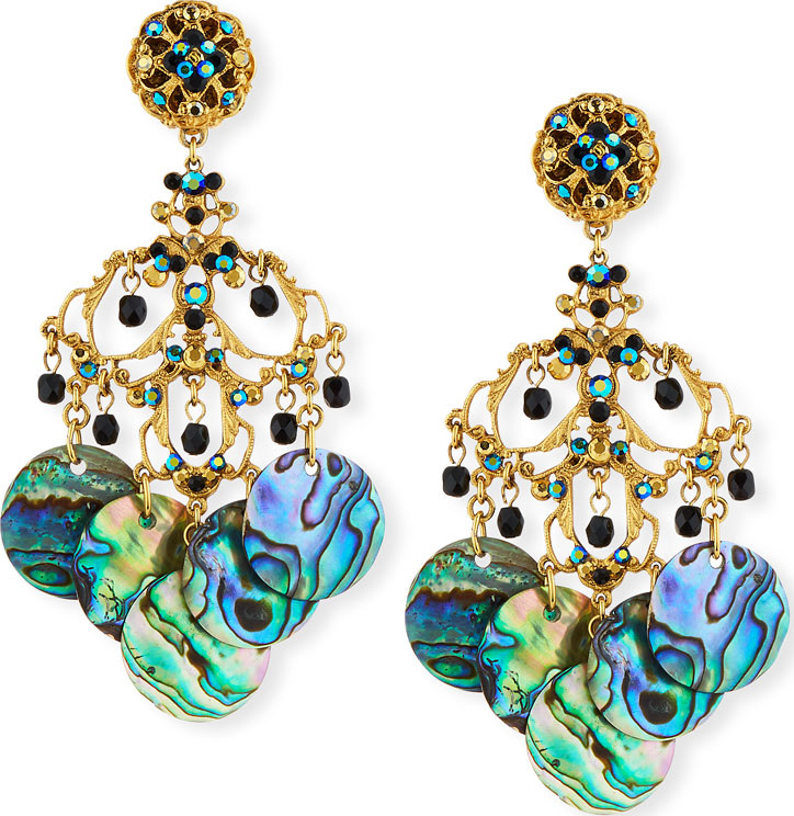 Jose maria barrera abalone disc chandelier clip on earrings mkt jose maria barrera abalone disc chandelier clip on earrings aloadofball Choice Image