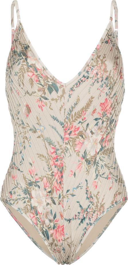 Zimmermann Bayou Pintuck floral print swimsuit